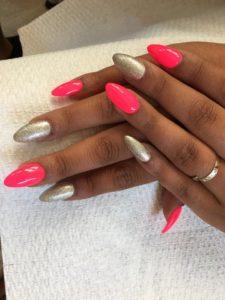 Almond Shaped Nails - Pin Up Nail Bar, Las Vegas, NV
