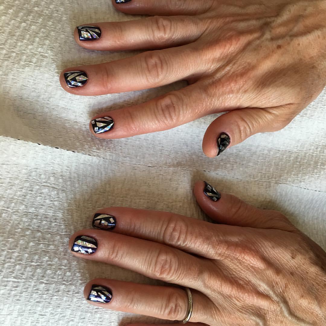Shattered Glass Nails - Pin Up Nail Bar, Las Vegas, NV