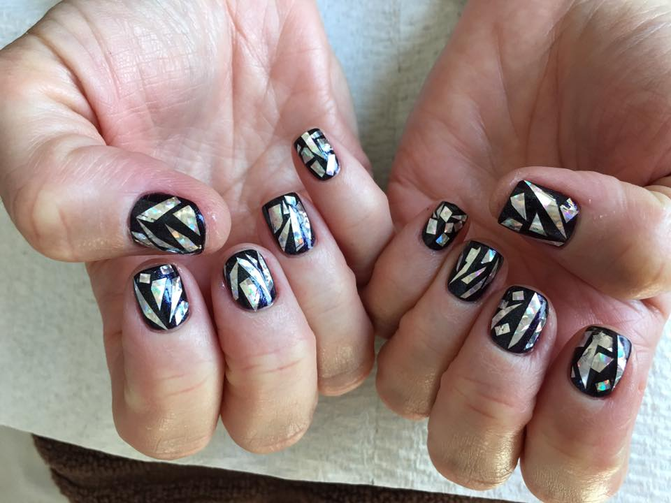 Shattered Glass Nails - Pin Up Nail Bar, Las Vegas, NV